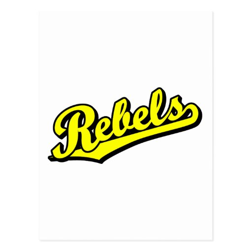 Rebeldes en amarillo postal