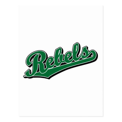 Rebeldes en verde tarjeta postal