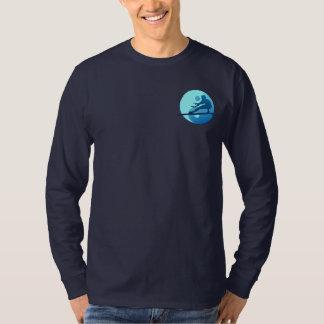 Rebeldes - medio Moon Bay (azul) Playera