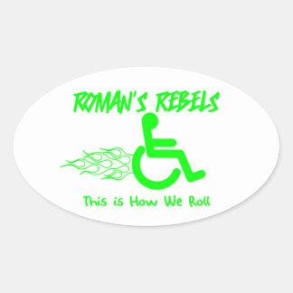 Rebeldes romanos pegatina ovalada