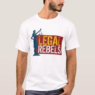 Rebeldes y señora legales Justice en rojo Playera