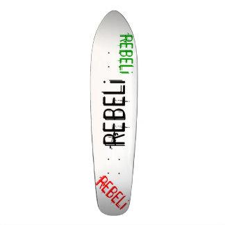"REBELi ""Cali Style"" Black/Red/Green Longboard Skateboard Deck"
