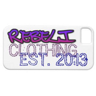 """REBELi """"EST."""" Logotipo marcado con etiqueta pintad iPhone 5 Cárcasa"""