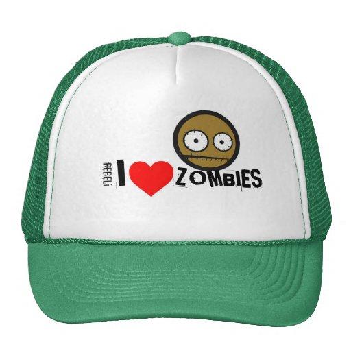 """REBELi """"los zombis <3"""" coloreo el casquillo opcion Gorra"""