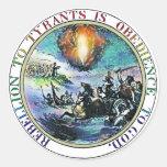 Rebelión a los paquetes del pegatina de los tirano