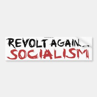Rebelión contra bumpersticker del socialismo etiqueta de parachoque