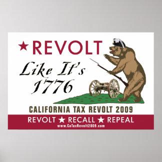 Rebelión de impuesto de CA 2009 - la rebelión como Posters