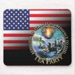Rebelión de la fiesta del té de la bandera de los  tapetes de ratón