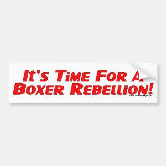 Rebelión del boxeador pegatina para auto