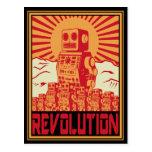 Rebelión del robot postales