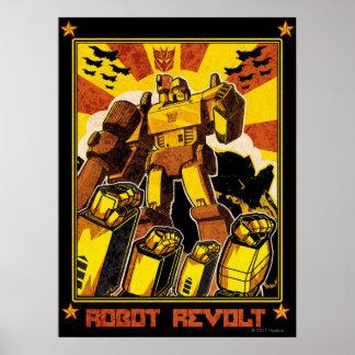 Rebelión del robot póster