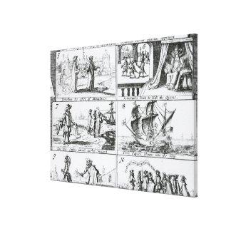Rebelión el efecto de monasterios impresiones en lienzo estiradas