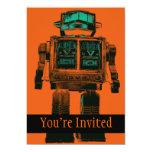 Rebelión radiactiva del robot comunicado personalizado