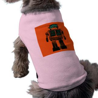 Rebelión radiactiva del robot playera sin mangas para perro