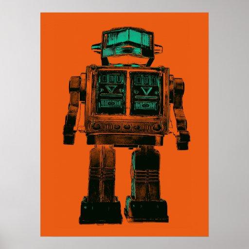 Rebelión radiactiva del robot poster