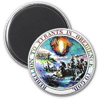 Rebelión sello de Thomas Jefferson de la tiranía a Imán Para Frigorifico