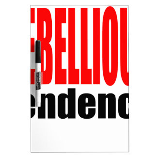 REBELLION tendency rebellious age teenager conflic Dry-Erase Board