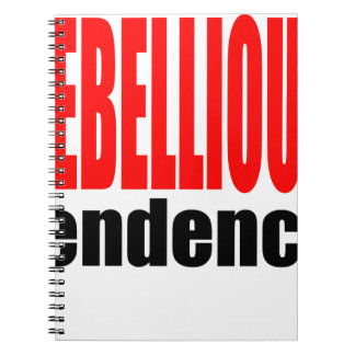 REBELLION tendency rebellious age teenager conflic Spiral Notebook