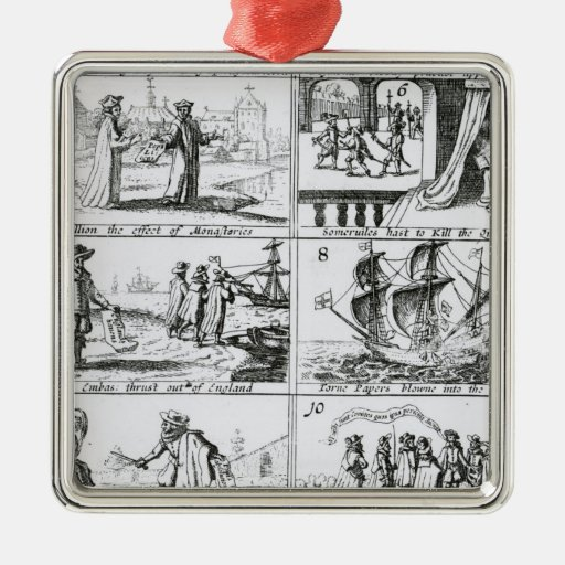 Rebellion, the effect of monasteries christmas ornament