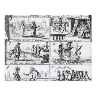 Rebellion, the effect of monasteries postcard