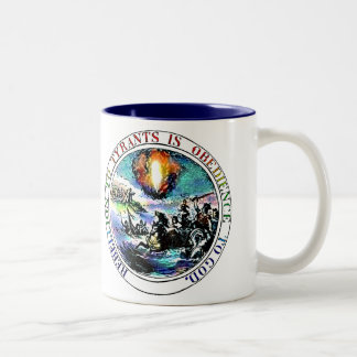 Rebellion to Tyrants is Obedience to God Two-Tone Coffee Mug