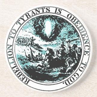 Rebellion to Tyrants Sandstone Beverage Coaster