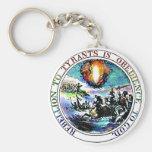Rebellion To Tyrants Thomas Jefferson Great Seal Basic Round Button Keychain
