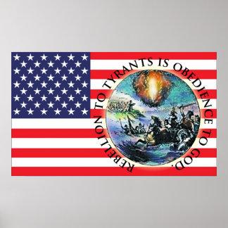 Rebellion US Flag Posters