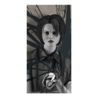 Rebellious Spray Paint Graffiti Artist Digital Art Card