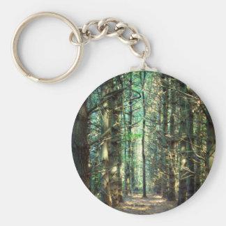 Rebellious Tree Photo Basic Round Button Keychain