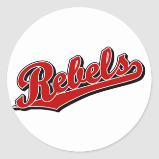 Rebels in Red Classic Round Sticker