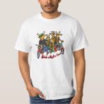 Rebels without a Claus Reindeer Holiday Cartoon T-Shirt