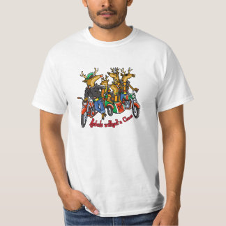 Rebels without a Claus Reindeer Holiday Cartoon T Shirt