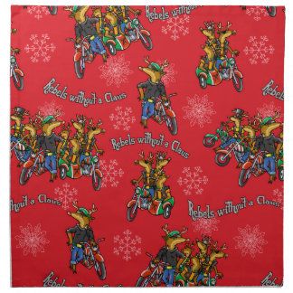 Rebels without a Claus Reindeer Holiday Napkins