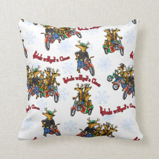 Rebels without a Claus Reindeer Holiday Pillows