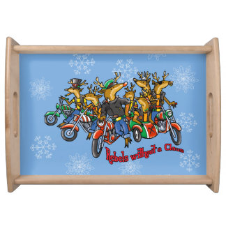 Rebels without a Claus Reindeer Holiday Service Trays
