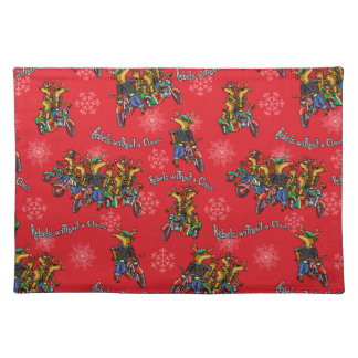 Rebels without a Claus Reindeer Holiday Placemats