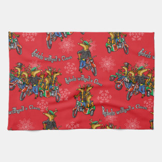Rebels without a Claus Reindeer Holiday Towels