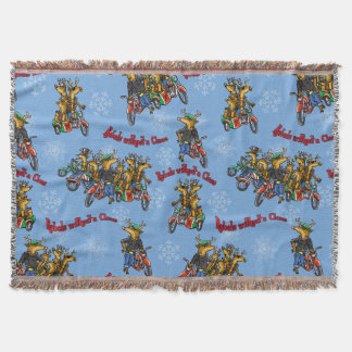 Rebels without a Claus Reindeer Holiday Throw Blanket