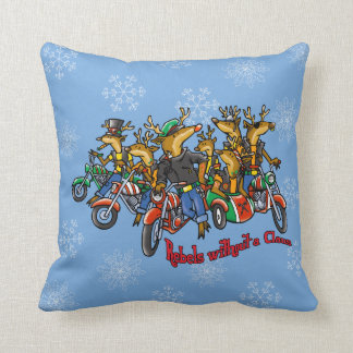 Rebels without a Claus Reindeer Reversible Holiday Pillow