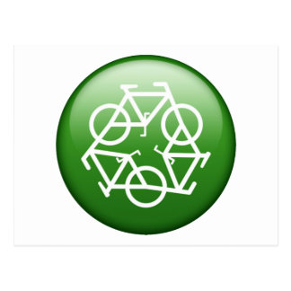 ReBicycle Green Postcard