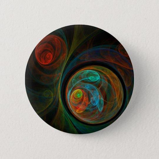 Rebirth Abstract Art Button (round)