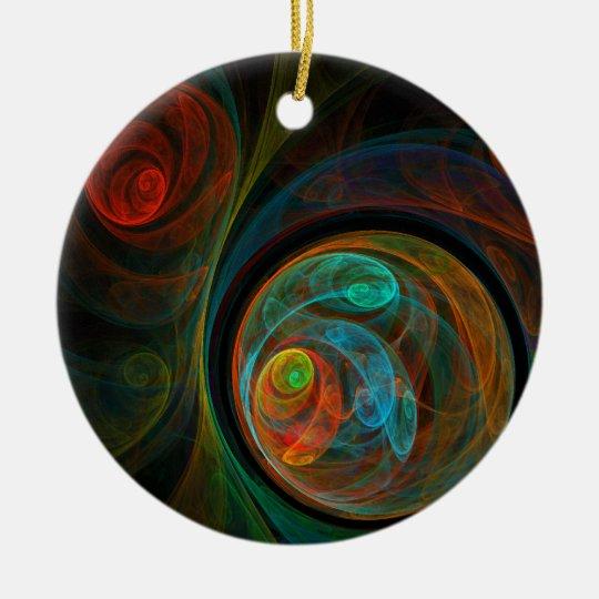 Rebirth Abstract Art Circle Ornament