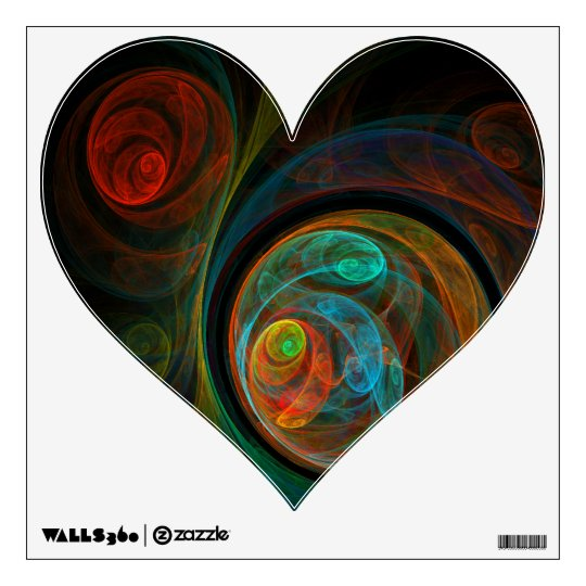 Rebirth Abstract Art Heart Wall Decal