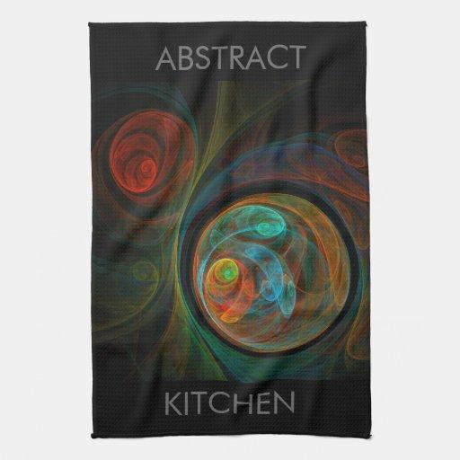 Rebirth Abstract Art Kitchen Towel | Zazzle