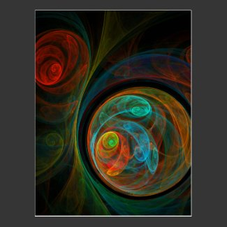 Rebirth Abstract Art Postcard