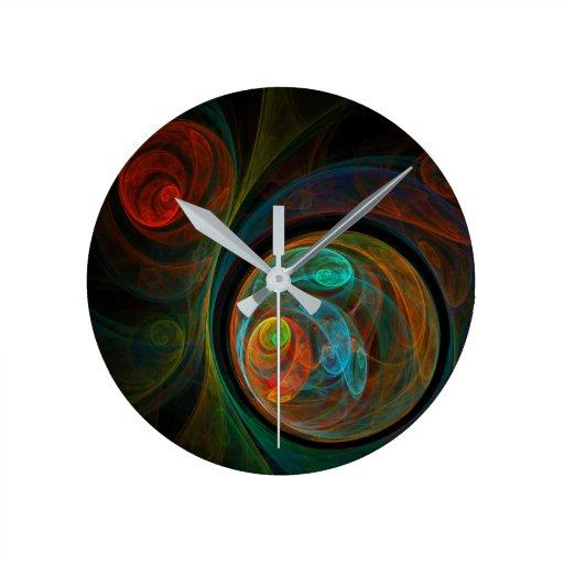 Rebirth Abstract Art Round Round Wall Clock