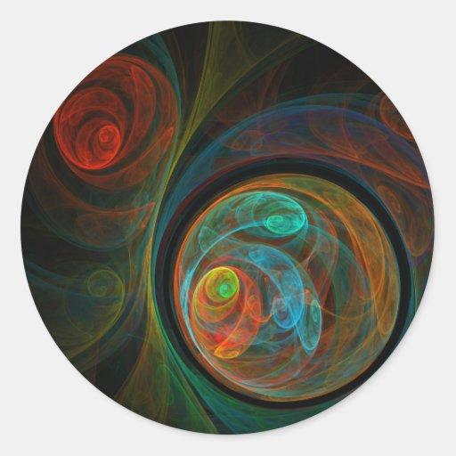 Rebirth Abstract Art Round Sticker