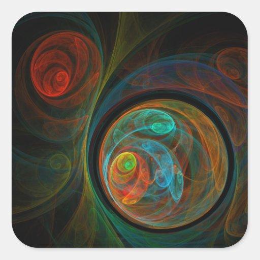 Rebirth Abstract Art Square Sticker