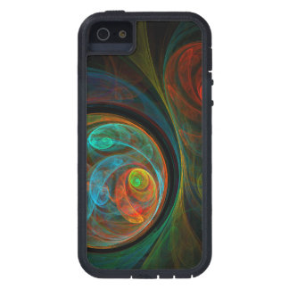 Rebirth Blue Abstract Art Case For iPhone SE/5/5s